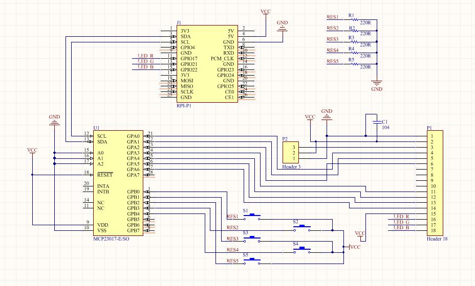 RPI-B+-GPIO-Triple(English) - 52Pi Wiki